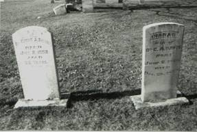Cyrus and Diana Davis grave markers