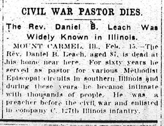 Daniel Leach obituary 1908