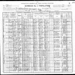 Frank X. Vivell 1900 census, Carrollton, IL