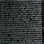 Elias Clark Medical Card - November 25, 1859