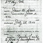 James M.Davis Mexican War Pension