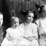 Victor, Louise, Leta, and Ida Mae Clark -- the children of U.D. and Bertha Clark