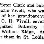 Marjorie Vivell Clark newspaper article