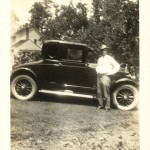 O. H. Vivell with 1926 Buick Coupe Model 2626