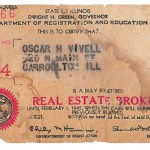 O.H. Vivell real estate license