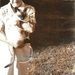 Violet Clark and her cat, Sam