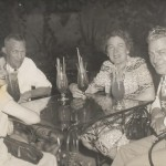 Left to Right - Violet & Victor Clark with Margaret & Lester Atteberry, At Pat O'Brien's In The Old French Quarter, New Orleans