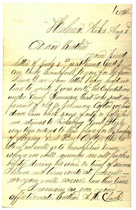 1863 Letter from A. H. Clark to Elias Clark Jr