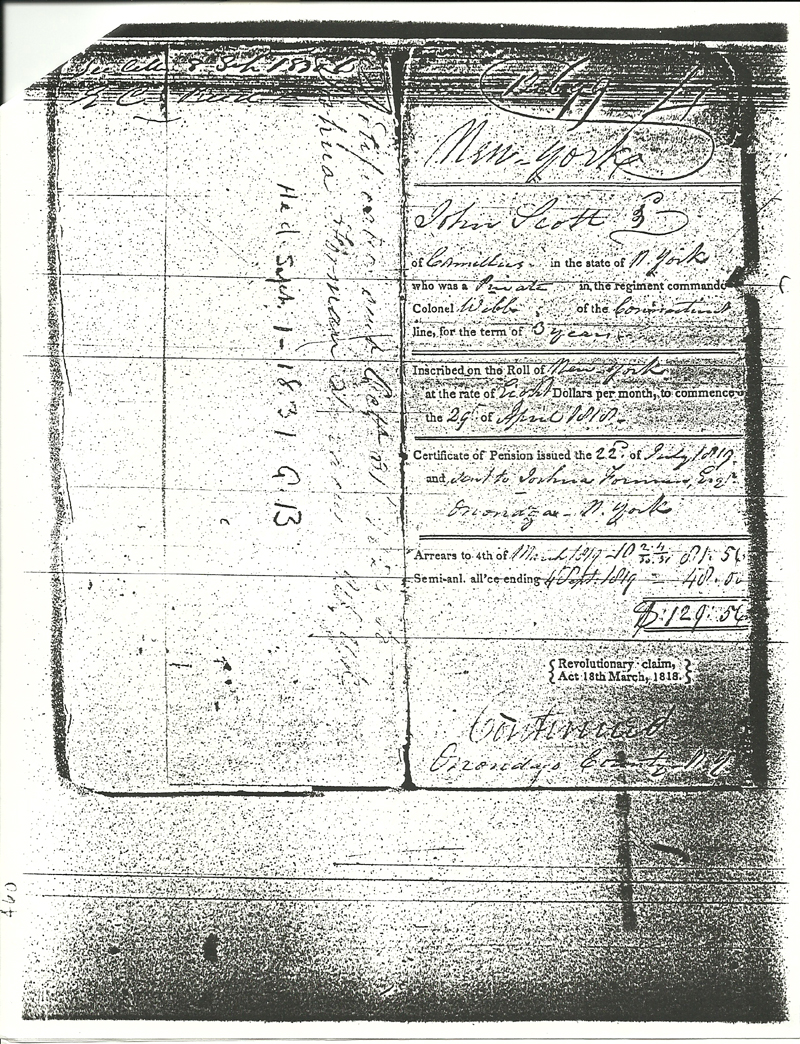 John Scott Revolutionary Pension Claim Page 2