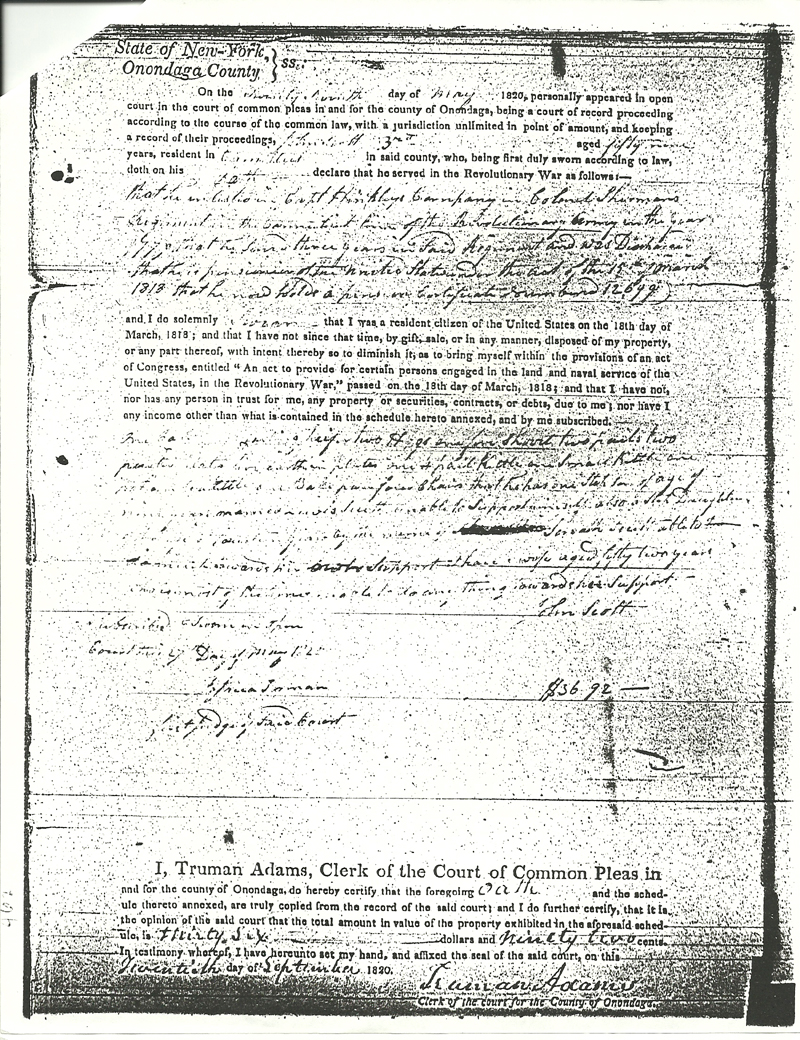 John Scott Revolutionary Pension Claim Page 4