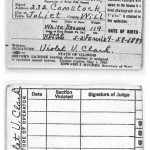 Violet Clark driver license from Joliet