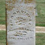 Close up Frank Vivell gravestone
