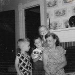 Violet Clark and grandchildren