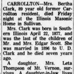 Bertha Clark Obit, Jacksonville Daily Journal